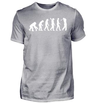 Lustiges Golf Golfer Shirt Evolution