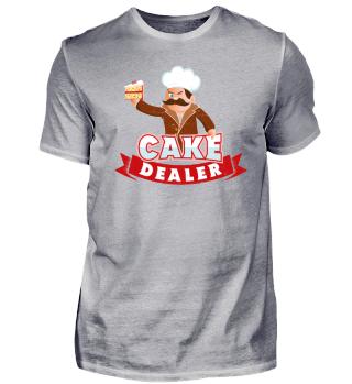 Cake Dealer Funny Baking Humour Pun Gift