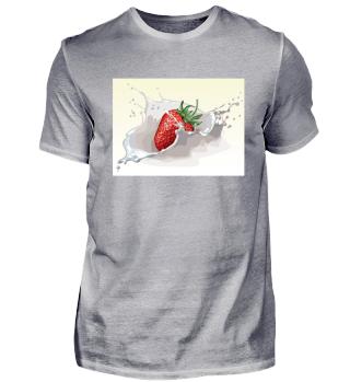 Erdbeere im Milch