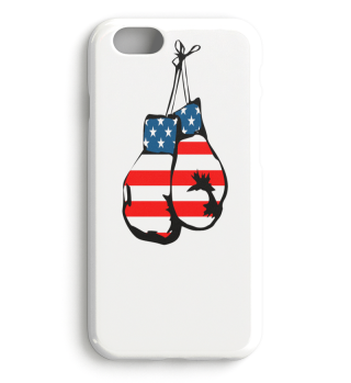 Boxing Gloves American Flag