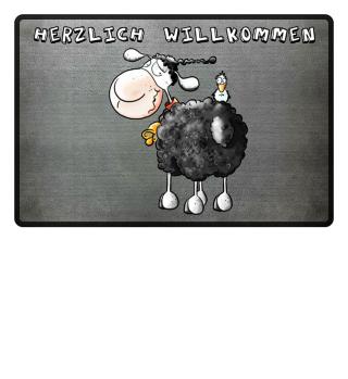 Wolliges Schaf Fußmatte