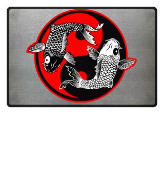 KOI Fish - Nishikigoi Yin Yang Symbol 4