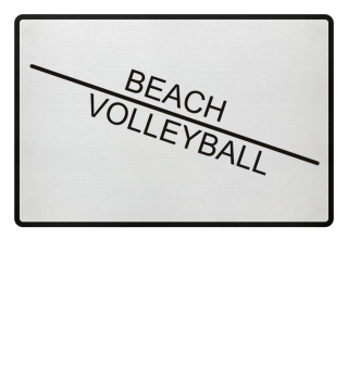 Beach Volleyball line - black