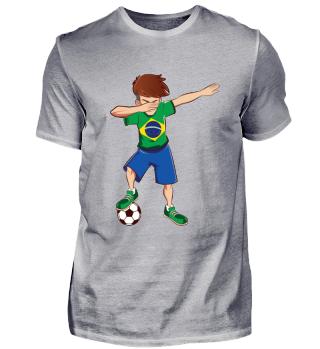 Dabbing Brasilien Fussballer T-Shirt