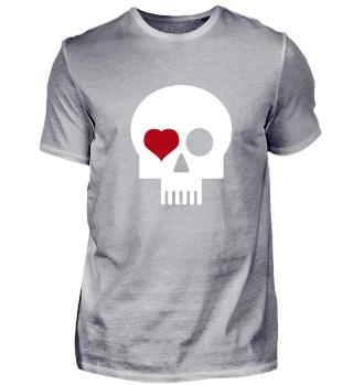 Skull with heart