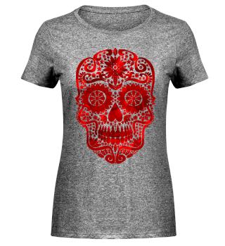 Gothic Stars Sugar Skull - blood