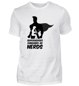 Superheroes Disguised as Nerds Shirt Tee