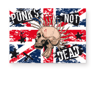 ★ Union Jack - Punks Not Dead Poster