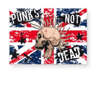 ★ Union Jack - Punks Not Dead Poster