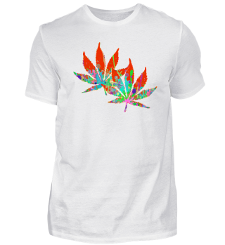 ★ Crazy Colored Marijuana Leaves 5