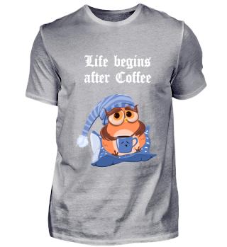 schwarzes cooles Kaffee-T-Shirt