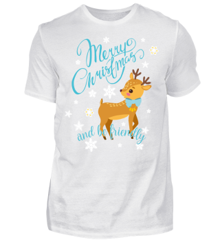 ★ Merry Christmas Fawn Snowflakes II