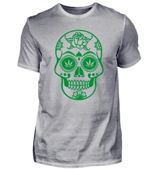 Hanf Weed Chill kiffen marihuana Skull