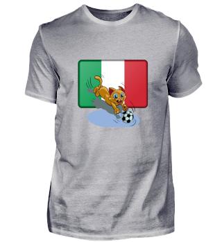 Italy soccer cat