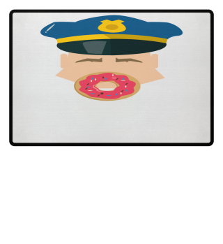 Polizei-Donut! Geschenk Idee Job Bau