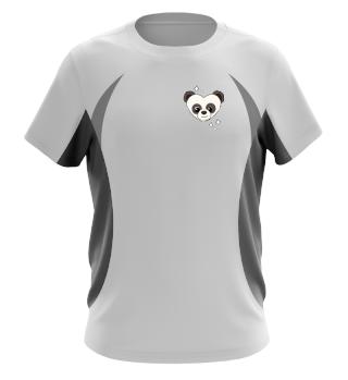 Panda Heart - Men Women T Shirt