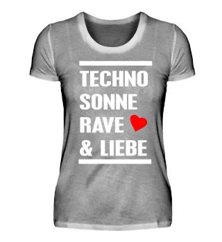 Techno Sonne Rave Liebe Festival