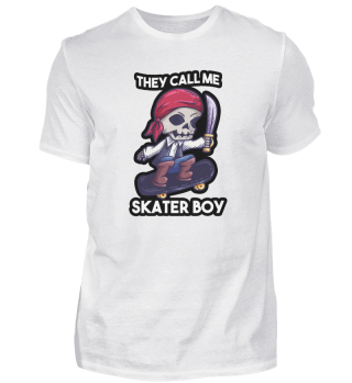 Skateboard skeleton pirate saying gift