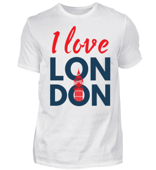I Love London - Union Jack - Geschenkidee - Gift Idea - Great Britain - England - Sight Seeing City Trip - Städtereise - Auslandsjahr - Au Pair - Reiselust - Tourist - Tourismus - Skyline - Big Ben - Kensington Palace - Buckingham Palace, London Eye