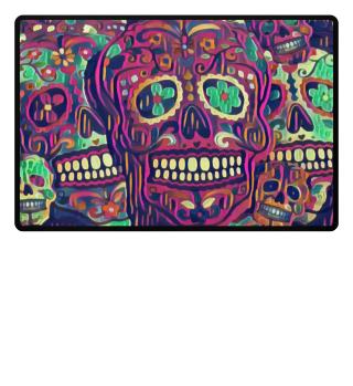 Día De Los Muertos Skulls Pattern II