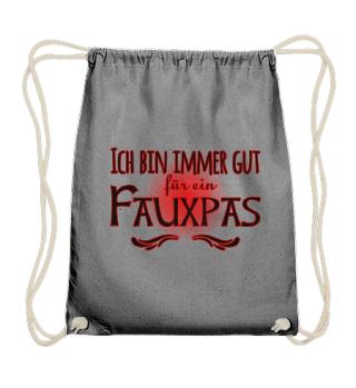 ★ Für Ein Fauxpas Gut - schwarz rot