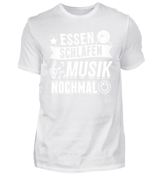 Lustiges Musiker Musik Shirt Essen