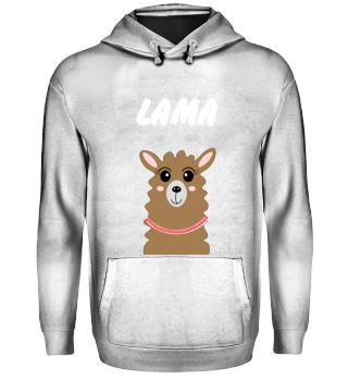 Lama mit Wunschtext