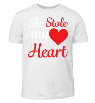 She stole my Heart shirt Valentines day