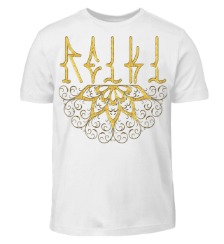 ♥ REIKI - Retro Heart Mandala - gold
