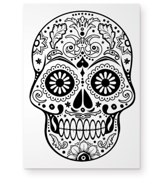 Gothic Ornaments Sugar Skull POSTER