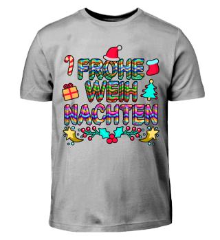 FROHE WEIHNACHTEN - Buntes Kinder Shirt