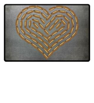 Bullet Heart Doormat