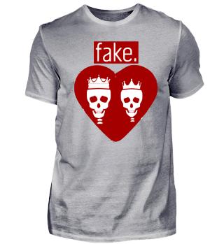 Fake Herz Totenkopf