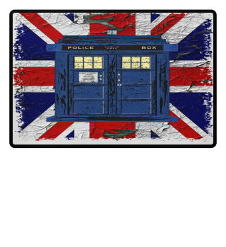 ★ United Kingdom Flag Police Box