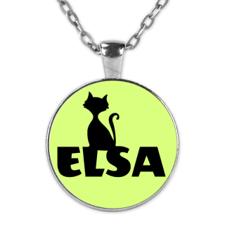 Elsa Name Namenskette Kette Katze