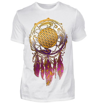 Dreamcatcher Flower Of Life - Turtle