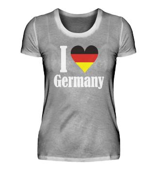 Girlie Shirt I LOVE Germany