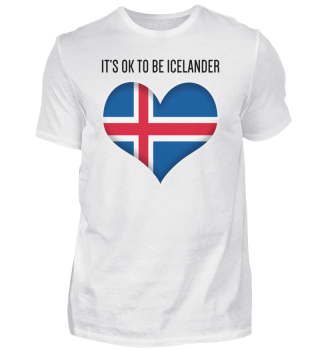 IT'S OK TO BE ICELANDER| black #itsok