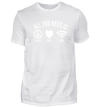 Peace Love Wifi Internet Smartphone Gift