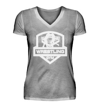Wrestling Gym Girlie Vneck