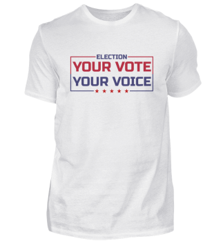 Your Vote Your Voice - colored Font