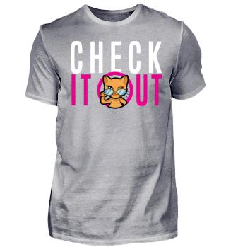 Cool Winking Cat Design Gift Shirt