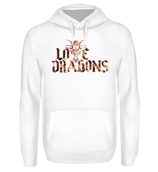 Love Dragons - colored grunge