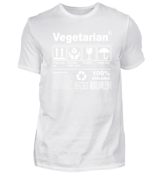 Vegetarian Product Description Tshirt