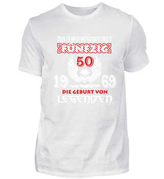 50. Geburtstag 1969 Legenden T-Shirt