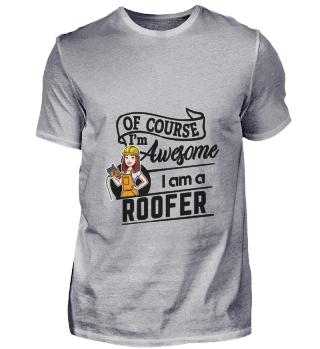 D001-0581B Female Roofer Dachdeckerin -