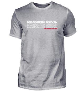 DANCING DEVIL Herren Basic T-Shirt FRONT + BACK