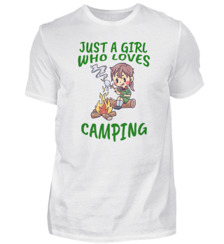 Camping love nature campfire woman