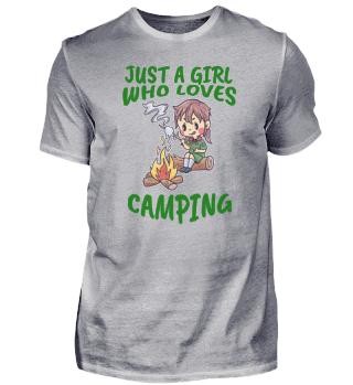 Camping love nature campfire woman
