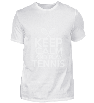 Keep calm Stay calm and play tennis